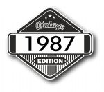 VIntage Edition 1987 Classic Retro Cafe Racer Design External Vinyl Car Motorcyle Sticker 85x70mm